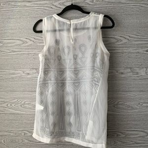 A Pea in the Pod Tops - Pea in the Pod White & Black Embroidered Tank Top